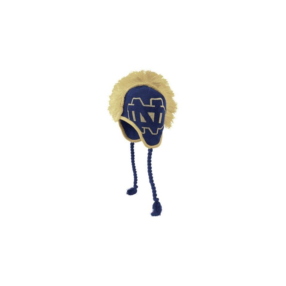 adidas Notre Dame Fighting Irish Youth Navy Blue Mohawk Knit Beanie