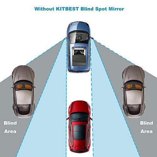 Kitbest Blind Spot Mirror Wide Angle Car Mirror Adjustable Convex Rear View Mirror Frameless Auto Side Mirror for All Universal Vehicles Car Stick on Design 2 Pack KBBSM0