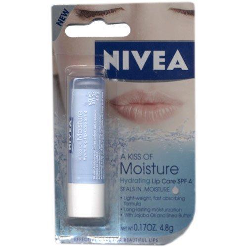 Nivea a Kiss of Moisture Hydrating SPF 4 Lip Care, 0.17 Oz (Pack of - Care Hydrating Lip Moisture