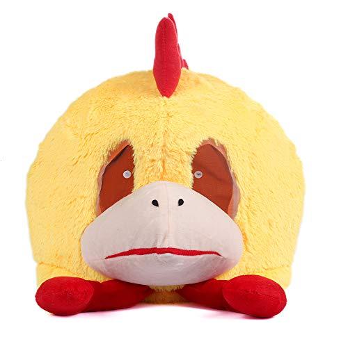Plush Chicken Animal Head Mask Halloween Panda Mascot Costume ()