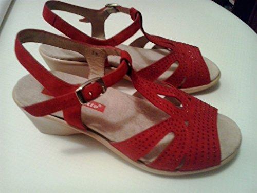 Komfort Damenlederschuh Piesanto 4863 sandale herausnehmbaren Einlegesohlen bequem breit