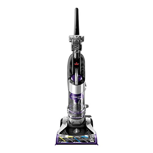 Bissell CleanView Rewind Deluxe Upright Bagless Vacuum, Purple ()