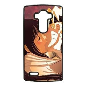 Caja del teléfono celular LG G4 Funda Negro naruto y hinata K7N1GI