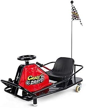 Virt Kart Electrico Para Drift Derrapes Crazy Kart Con Asiento Y Freno De Mano Rojo Y Negro Amazon Es Juguetes Y Juegos