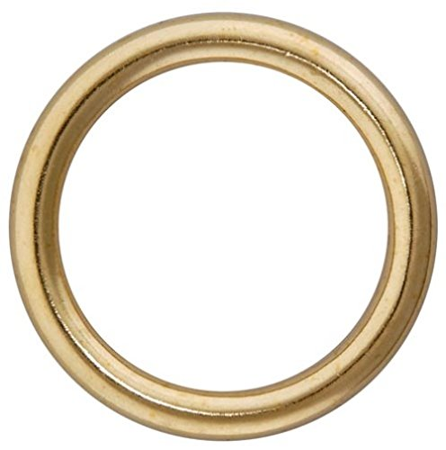 Bulk Hardware BH03255 Metal Curtain Drapery Rings, Inner Dia.16mm (5/8 inch) Outer Dai. 18mm (11/16 inch) - Brassed, Pack of 24