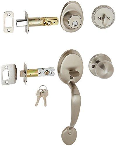 (MINTCRAFT S7X231/S7P31 ProSource T3 Saturn S7 Lexington Single Cylinder Door Handle Set, Keyed Different, Solid, Brass )