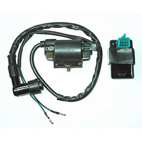 UXOXAS Universal Ignition Coil + 5 Pin AC CDI Box For Honda Dirt Pit Bike 110CC