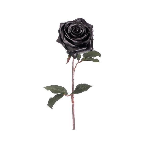 21.5″ Silk Rose Flower Spray -Black (Pack of 12)