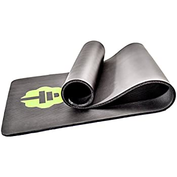 "Total Connection Company #1 Exercise Mat, Foam Floor Equipment Ideal for Any Workout. Perfect 1/2"" Thickness for Pilates, Yoga, and Core & Ab Strength Training. Includes Carrying Strap."