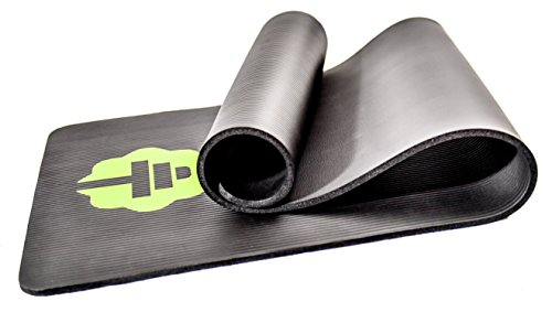 Total Connection Company 1 Exercise Mat, Foam Floor Equipment Ideal for Any Workout. 1 2 Thickness for Pilates, Yoga, and Core Ab Strength Training. Includes Carrying Strap Free E-Book.
