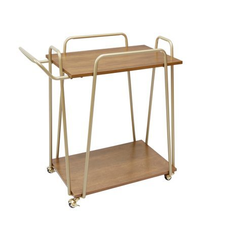 Better Homes & Gardens. Giana Metal & Wood Modern Bar Cart, Gold Finish from Better Homes & Gardens