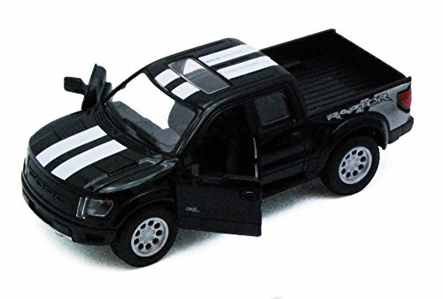 Supercrew Box - Kinsmart 2013 Ford F-150 SVT Raptor SuperCrew Pickup Truck, Black 5365DF - 1/46 scale Diecast Model Toy Car, but NO BOX