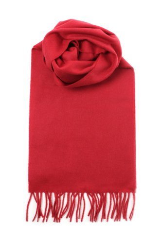 Johnstons Of Elgin Women's Pure Cashmere Plain Scarf Garnet One Size by Johnstons of Elgin