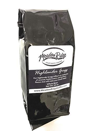 Meadow Ridge Small Batch Roasted Gourmet Coffee - Whole Bean (Highlander Grogg, 24 Ounce)