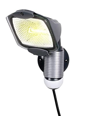 All-Pro MS100PG, 110 Degree 100W Quartz Halogen Motion-activated Plug-in Security Light
