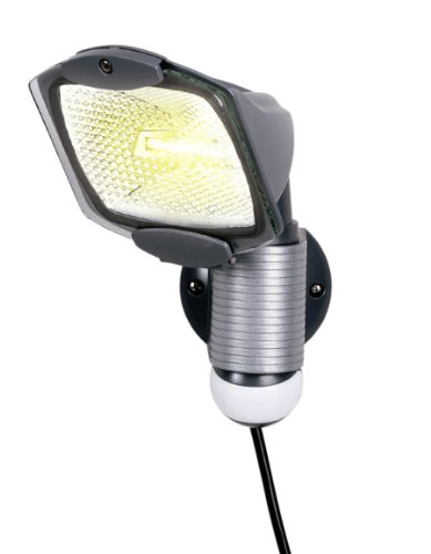 Cooper lighting amazon all pro 110 degree outdoor grey quartz halogen motion activated plug in security light by cooper lighting aloadofball