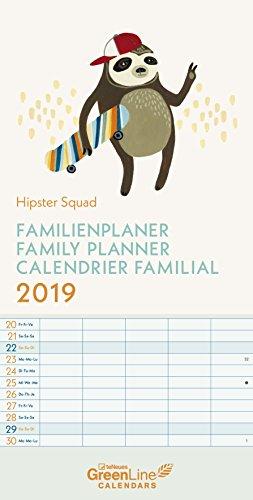 Hipster Squad GreenLine Familienplaner 2019
