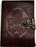 Hamsa Hand of Peace Leather Journal Diary With