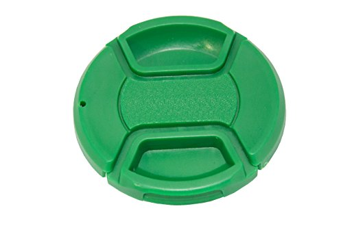 Koala Cam - Premium Green Color Pinch Lens Cap Cover for DSLR Cameras for Sony, Nikon, Canon, etc Bundle with Cleaning Cloth - Explained Lens Specs