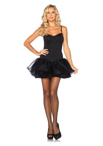 Leg Avenue Costumes Corset Tutu Dress with Support Boning and Removable Straps