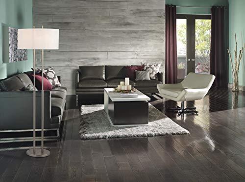 "Adesso 4016-22 Duet 62"" Floor Lamp, Satin Steel, Smart Outlet Compatible"