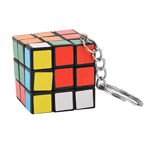 Sala-Store - Phone Pendant Key Ring Car-styling Gift For Friend Rubik's Cube Puzzle Keyring Mini Car Keychain Magic Toy Key Key Chain