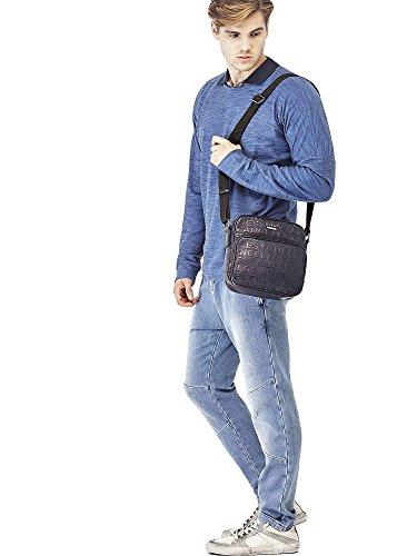 Guess , Damen Schultertasche Blau Marineblau