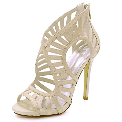 high 03 shoes Zip Toe Prom da Sandali 7216 Tacco da Alto Multi 8 Shoes Elegant Champagne Open Donna Sposa 3 Colore Court 7d5wq7aC
