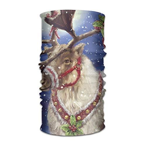 - Fashion New Headwear Headband Happy Winter Deer Head Scarf Wrap Sweatband Sport Headscarves For Men Women