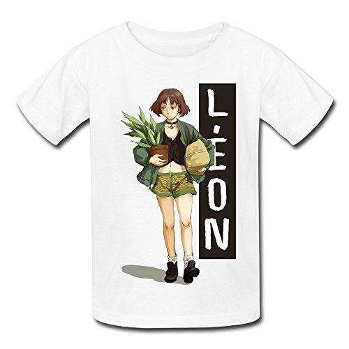 Price comparison product image ZIYUAN Kid's Vintage Leon The Professional Natalie Portman T-shirts M White