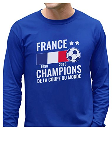 Tstars - 2018 Champions France National Soccer Team Fans Long Sleeve T-Shirt