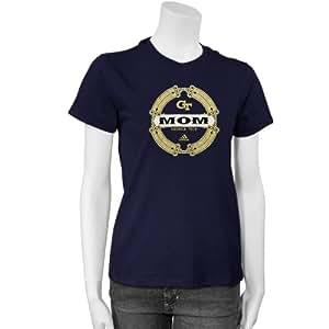 adidas Georgia Tech Yellow Jackets Ladies Navy Blue Mom T-shirt