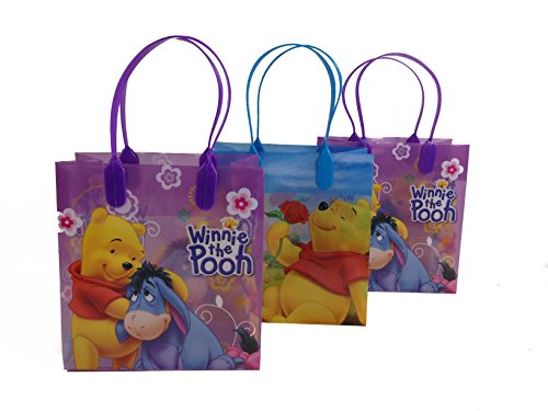 (12ct) Disney Nickelodeon Marvel Birthday Goody Gift Loot Favor Bags Party Supplies (Winnie the Pooh) ()