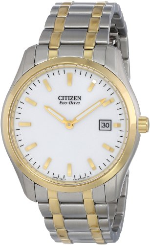 Two Drive Bracelet Tone Eco (Citizen Eco-Drive Men's AU1044-58A Analog Two Tone Watch)