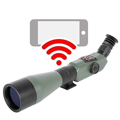 ATN X-Spotter HD 20-80x/200mm Smart Day & Night Smart HD Spotting Scope w/1080p Video, Geotagging Rangefinder, WiFi, E-Compass, E-Zoom, 3D Gyroscope, IOS & Android Apps by ATN