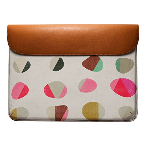 DailyObjects 13 Sleeve Air Pro MacBook Painted Grey Envelope Pebbles Real Leather For AZqAwrP
