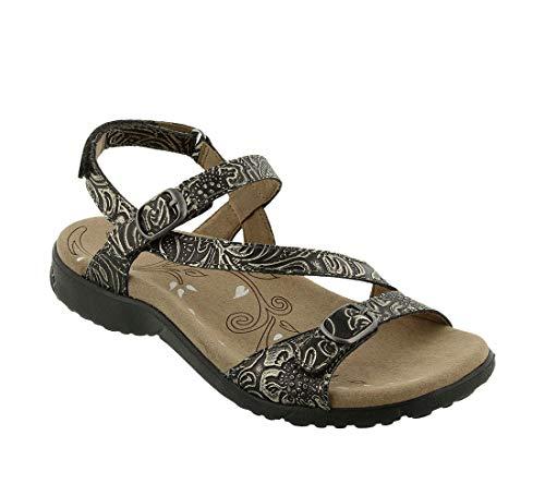 Taos Footwear Women's Beauty Light Gold Embossed Sandal 6 M US