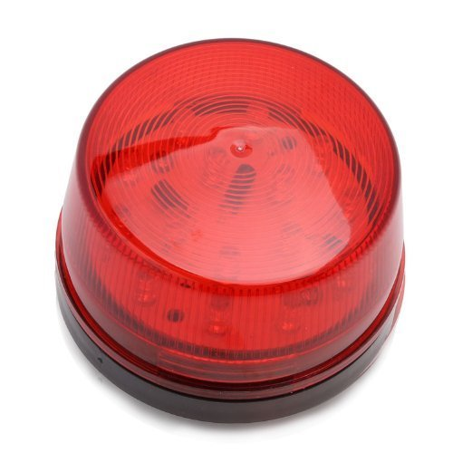 Huoshang RED LED 12 Volt Security Alarm Strobe Light with Screw Base for Home Security System