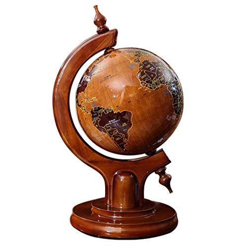 AXZHYZ Personalized Decorative Earth Instrument Jiale Globe Solid Wood-HJCA Antique Office Study Decoration Decoration Personality Craft Gift Globe 12.99×15.74×23.62 Inches Household Decoration