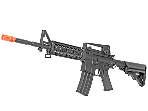 Metal Gear Electric Rifle (MetalTac CYMA CM013 M4-RAS Electric Airsoft Gun with Metal Gearbox Version 2, Full Auto AEG, Powerful Spring 415 Fps with .20g BBs)