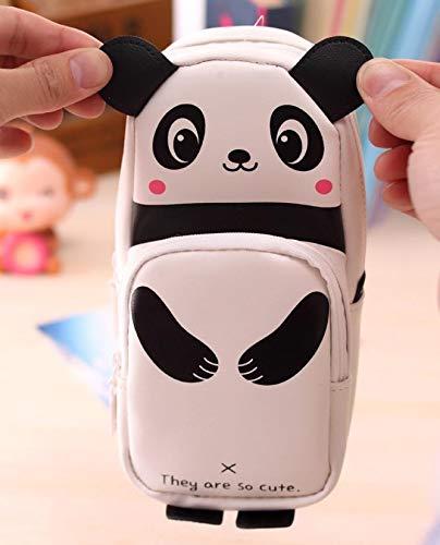 Amazon.com: Panda Pencil case Rabbit Leather estuche escolar ...