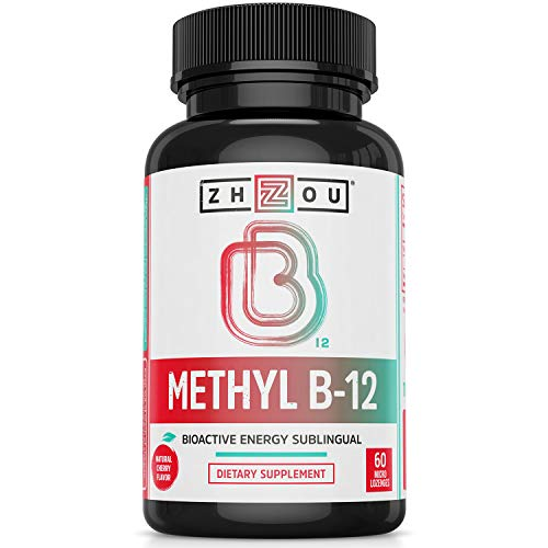 Vitamin B12 (Methyl B12) Sublingual - 5000 mcg Methylcobalamin B 12 for Maximum Absorption and Active Energy - Natural Cherry Flavor, Sugar-Free, Vegan - 60 Micro Lozenges