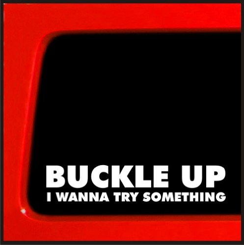 Buckle-Up-I-Wanna-Try-Something-Sticker-Decal-truck-diesel-4x4-funny-car-vinyl