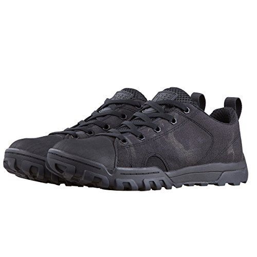 FREE SOLDIER stivali uomo tattico lavoro stivali stile militare, medio e basso leggero e traspirante camo Combat stivali Black Camo (Low Boots)