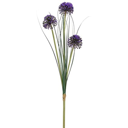 Amazon 295 allium silk flower branch stem purple pack of 12 295quot allium silk flower branch stem purple pack mightylinksfo