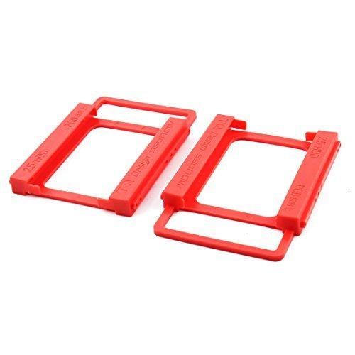 Amazon.com: eDealMax plástico del ordenador portátil DE 2,5 pulgadas a 3,5 pulgadas Disco Duro SSD sin tornillos de montaje Soporte adaptador de Disco Duro ...