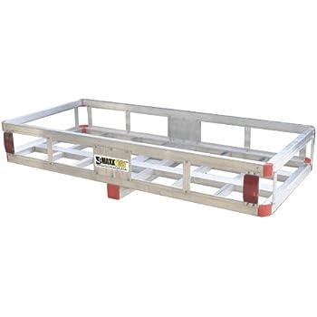 MaxxHaul 70108 49 X 225 Hitch Mount Aluminum Cargo Carrier With High Side Rails