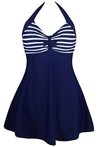 QUEENIE VISCONTI  - Traje de una pieza - para mujer Navy White Stripes