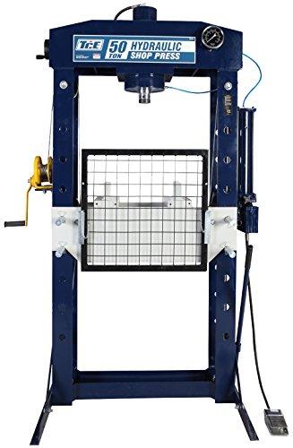 50 Ton Hydraulic Shop Press (TCE TCE50021 Professional Grade Steel Frame Hydraulic Shop Press, 50 Ton Capacity)