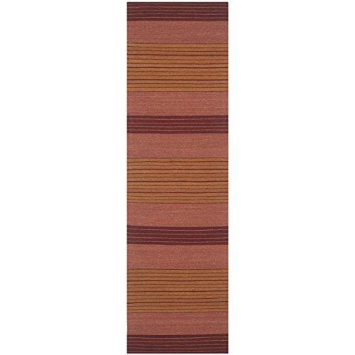 Safavieh Marbella Collection MRB285A Flat Weave Rust Wool Runner (2'3